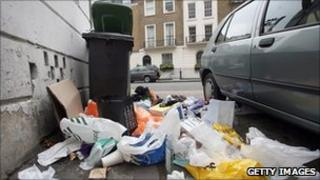 Rubbish in Westminster