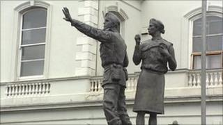 UDR statue in Lisburn