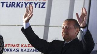 Turkish PM Recep Tayyip Erdogan described his election win as a victory for the entire country