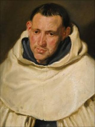 Portrait of a Carmelite Monk by Van Dyck, circa 1617 to 1620