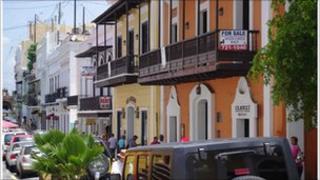 A street in San Juan, Puerto Rico