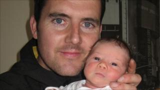 Graeme Rae Mackie with son Daniel