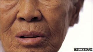 An elderly woman (generic)