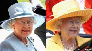 The Queen in Stewart Parvin dresses at Ascot