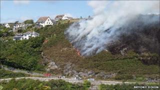 Gorse fire on Tuesday