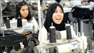 Inditex workers at a factory in Morocco