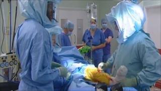 Knee operation at Wrexham Maelor