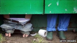 Glastonbury Festival toilet