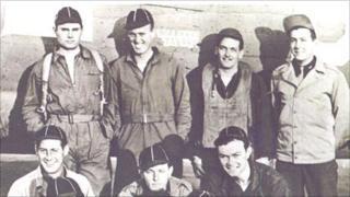 Bob Clark, Lt Bob Kamper, Sgt Wally Kenter, Lt Ted Kibbick, Front row Sgt Tom Parker, Sgt Jo Hembling, Sgt John Rein.