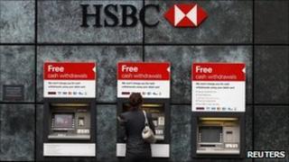 HSBC cash machines