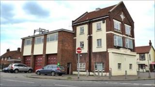 The former fire station in Hadleigh