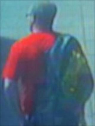 CCTV image of the man police would like to trace