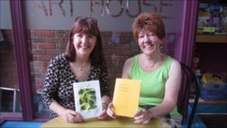Sylvia Herbert and former secretary Lynne Hackles