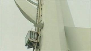 Spinnaker Tower's glass lift