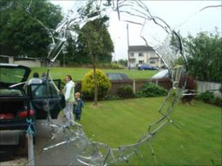 Damage to window