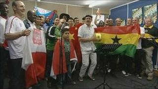 World Cup song recording