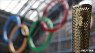 Prototype of the London 2012 Olympic Torch