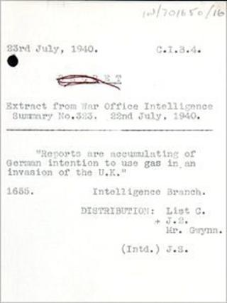 National Archives war document