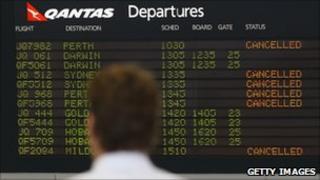 Passenger at Melbourne airport (21 June 2011)