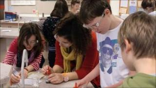 Students in Belgium test water quality