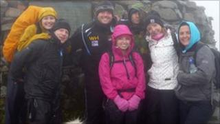People at Scafell Pike