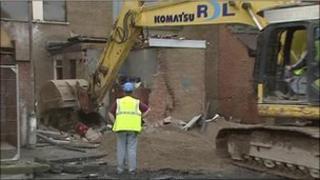 demolition work at ross street flats