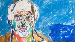 John Randall Bratby 1928-1992,Self Portrait (detail). © the artist's estate/Bridgeman Art Library. Research and Cultural Collections, University of Birmingham