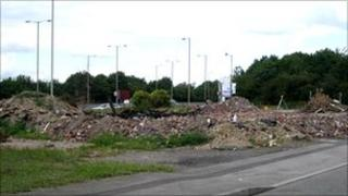Land proposed for the KFC restaurant