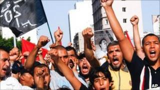 Moroccan Arab Spring movement in Casablanca, Morocco
