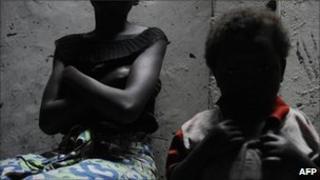 Congo rape victim (file photo)