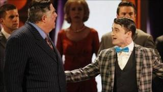 How to Succeed in Business Without Really Trying, featuring Daniel Radcliffe (r)