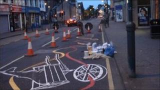 Roadsworth street art in Kirkintilloch