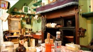 1920s kitchen display at the Traditional Heritage Museum