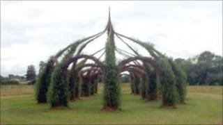 The 8m (26ft) high willow 'Cathedral' in Taunton