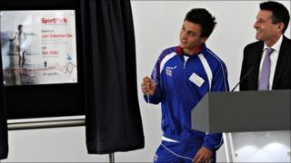 Lord Sebastian Coe and Olympic diver Tom Daley officially opens Loughborough University's £15m SportPark