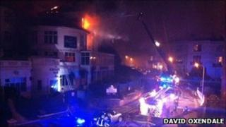 Crews tackling fire - David Oxendale