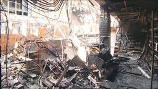 Fire damage to Chesterfield Royal
