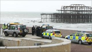 Emergency services at West Pier