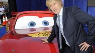 Owen Wilson with Lightning McQueen