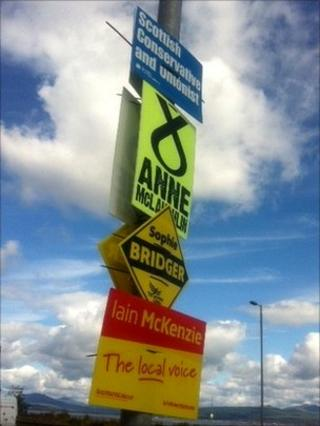 By-election signs