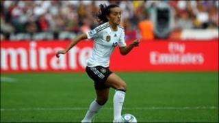 Fatmire Bajramaj of Germany in action against Canada