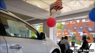 Car showroom in New York