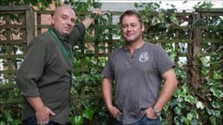 Ian Chatfield (left) from Bromford Support and Calvin Cornes
