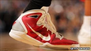 Shoe with Nike logo