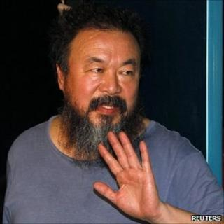 Dissident Chinese artist Ai Weiwei on 23 June, after his release