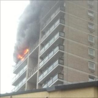 Fire at flat in Lupin Point