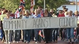 Community demonstation in Bangor
