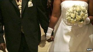 A Uganda couple at a wedding ceremony in Kampala - 2005
