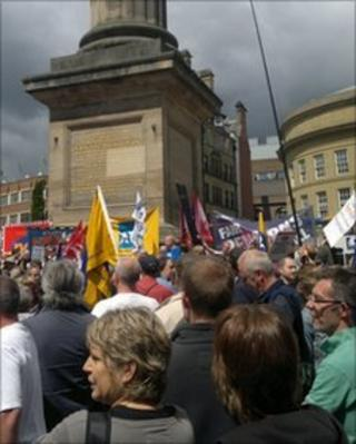 Rally at Grey's Monument