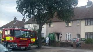 The fire in Sutton Road, Southend